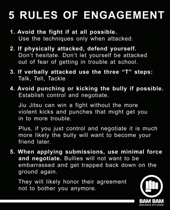 martial arts rules of engagement